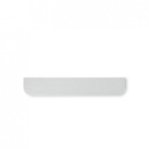 Eve mini cover - rounded - brushed aluminium - security