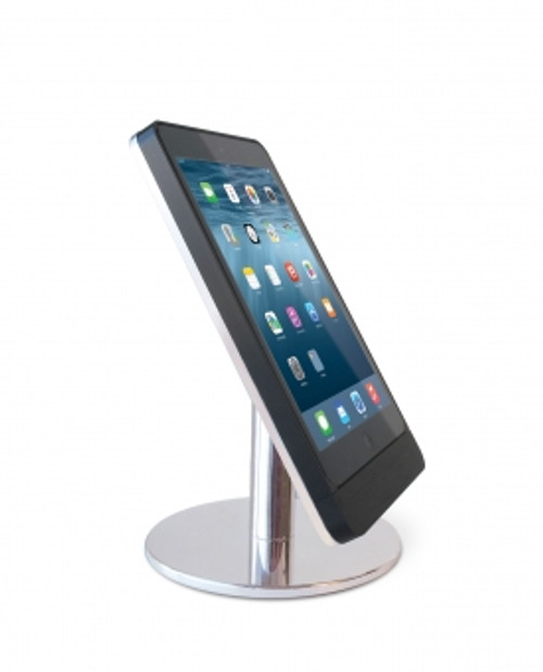 Eve mini 4 table base - portrait - polished aluminium