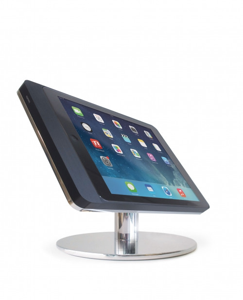 """Eve 9.7"""" table base - landscape - polished aluminium"""