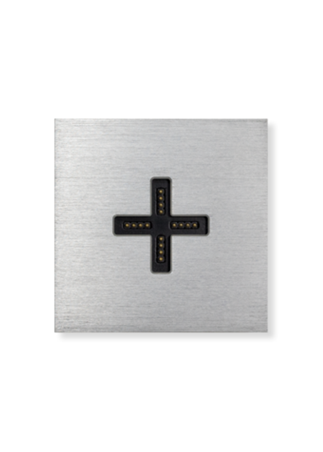 Eve plus - wall base cover - brushed aluminium