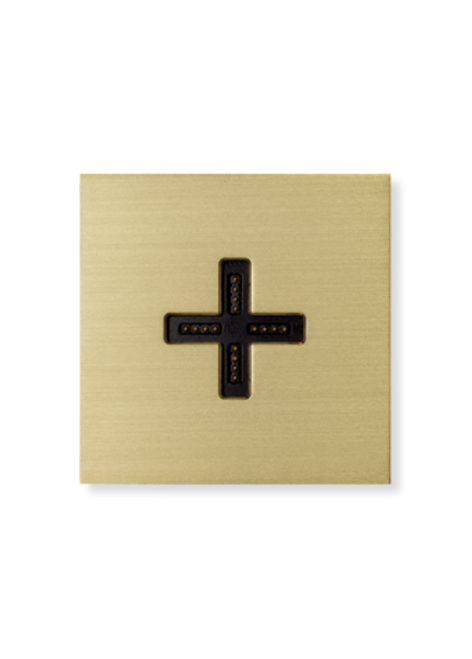 Eve plus - wall base cover - brushed brass