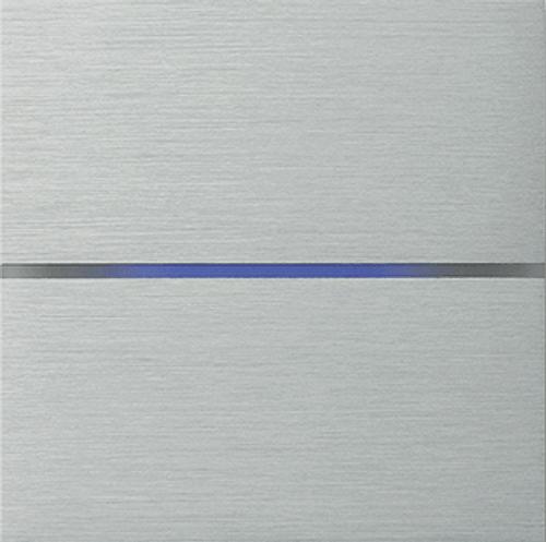 Sentido front - dual - brushed aluminium