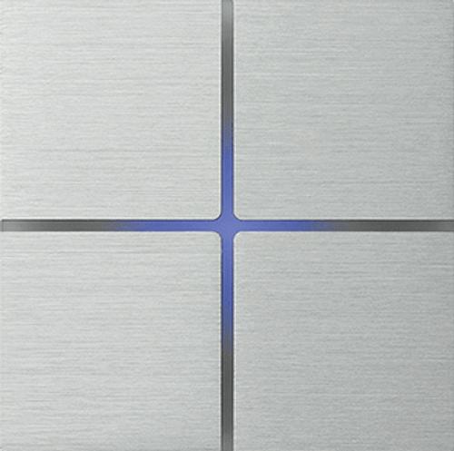 Sentido front - quad - brushed aluminium