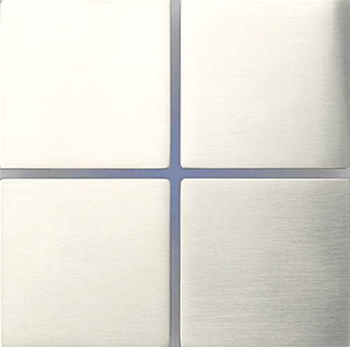 Sentido front - quad - brushed nickel