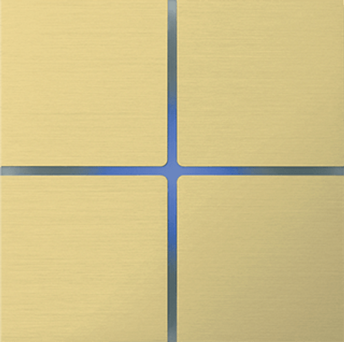 Sentido front - quad - brushed brass