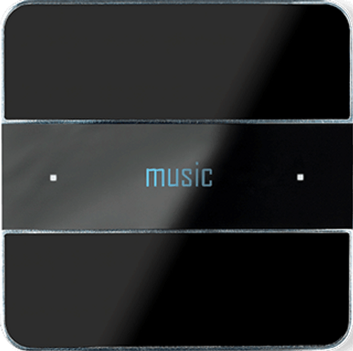 Deseo front - black glass