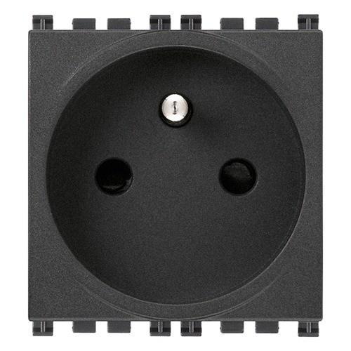 Socket - power outlet - Type E (FR)  250V 16A - black