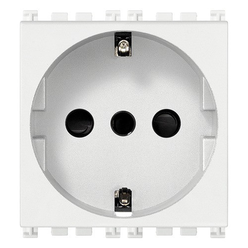 Socket - power outlet - Type F (DE)  250V 16A - white