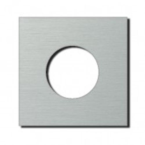 Socket - 1 gang - power outlet - brushed aluminium