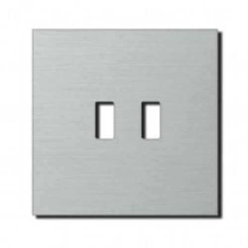 Socket - 1 gang - USB outlet - brushed aluminium