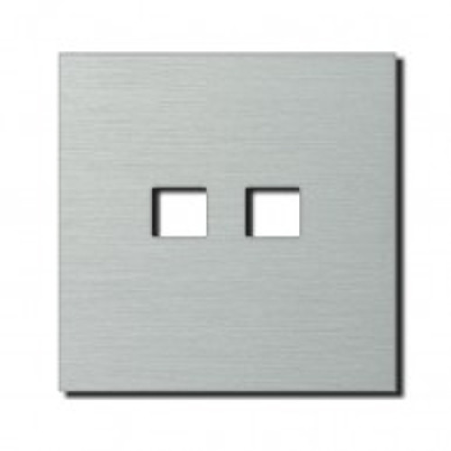 Socket - 1 gang - RJ45 outlet - brushed aluminium