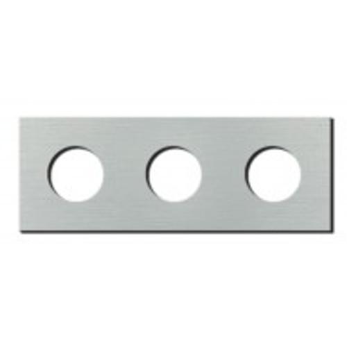Socket - 3 gang - power outlet - brushed aluminium