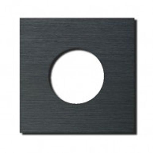 Socket - 1 gang - power outlet - brushed dark grey