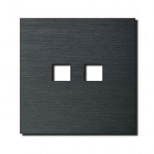 Socket - 1 gang - RJ45 outlet - brushed dark grey