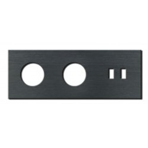 Socket - 3 gang - power + USB outlet - brushed dark grey