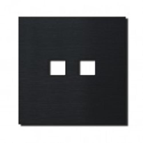 Socket - 1 gang - RJ45 outlet - brushed black
