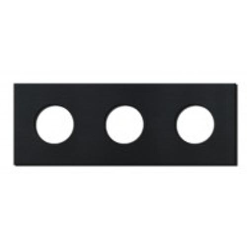 Socket - 3 gang - power outlet - brushed black