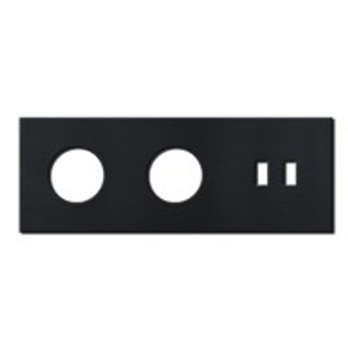 Socket - 3 gang - power + USB outlet - brushed black