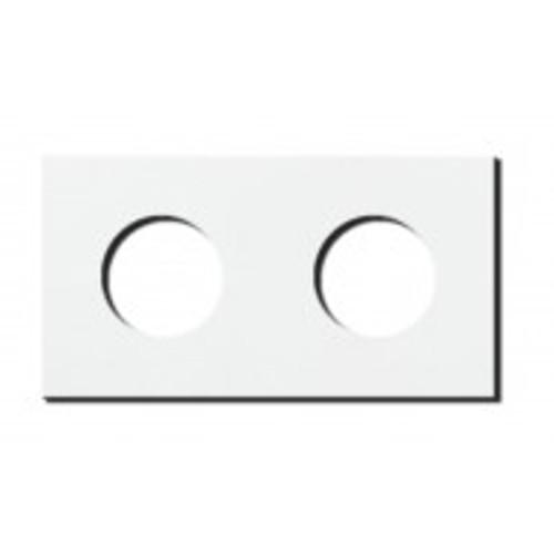 Socket - 2 gang - power outlet - satin white