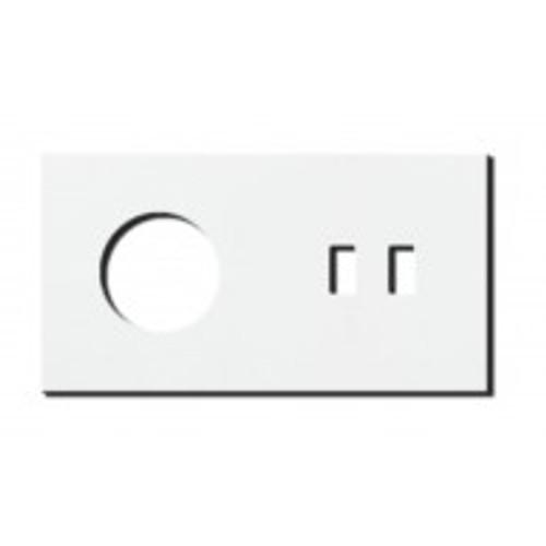 Socket - 2 gang - power + USB outlet - satin white