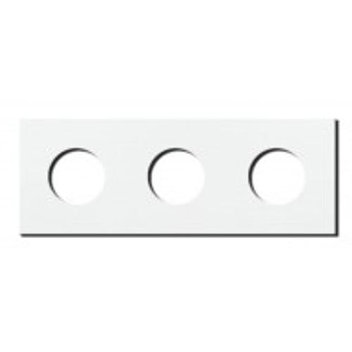 Socket - 3 gang - power outlet - satin white