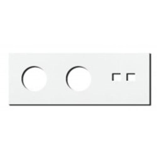 Socket - 3 gang - power + RJ45 outlet - satin white