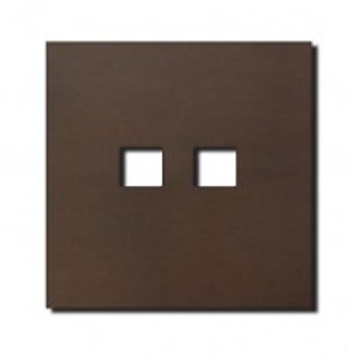 Socket - 1 gang - RJ45 outlet - bronze