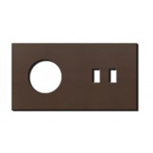 Socket - 2 gang - power + USB outlet - bronze