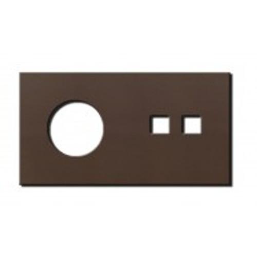 Socket - 2 gang - power + RJ45 outlet - bronze
