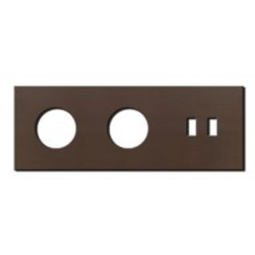 Socket - 3 gang - power + USB outlet - bronze