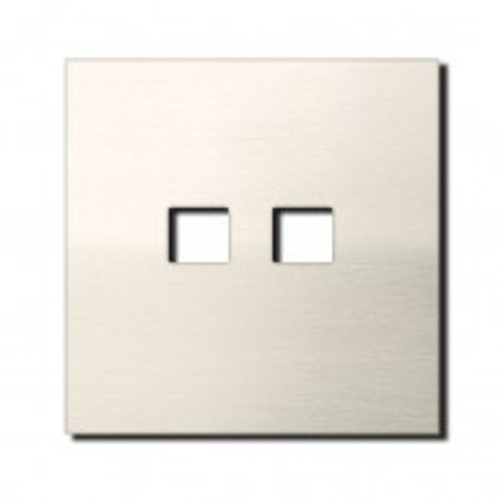 Socket - 1 gang - RJ45 outlet - brushed nickel