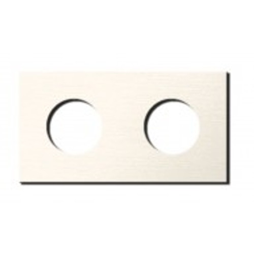 Socket - 2 gang - power outlet - brushed nickel