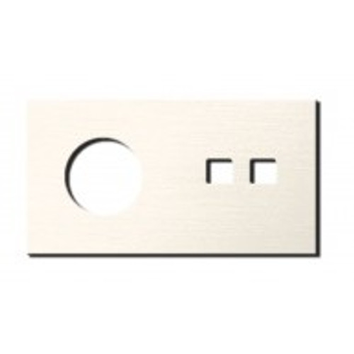 Socket - 2 gang - power + RJ45 outlet - brushed nickel