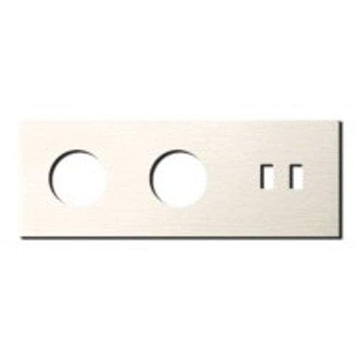 Socket - 3 gang - power + USB outlet - brushed nickel