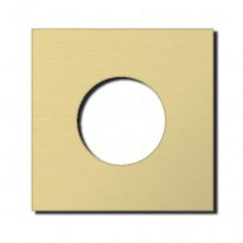 Socket - 1 gang - power outlet - brushed brass