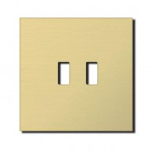 Socket - 1 gang - USB outlet - brushed brass