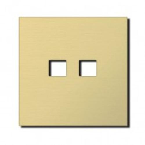 Socket - 1 gang - RJ45 outlet - brushed brass
