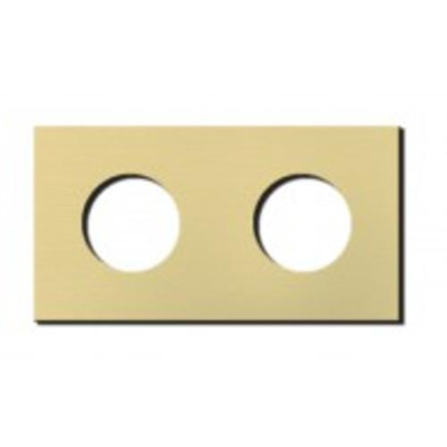Socket - 2 gang - power outlet - brushed brass