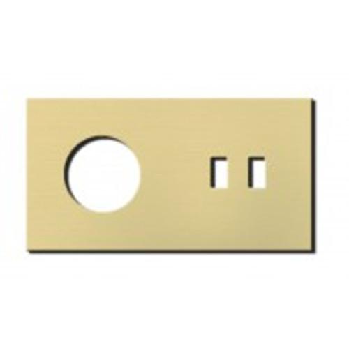 Socket - 2 gang - power + USB outlet - brushed brass