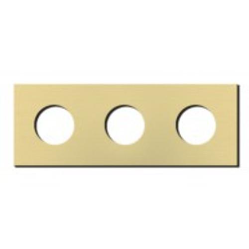 Socket - 3 gang - power outlet - brushed brass