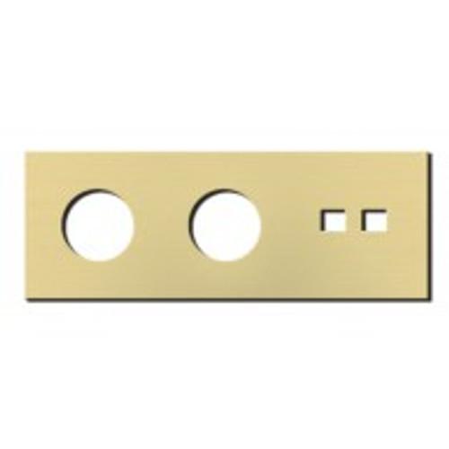 Socket - 3 gang - power + RJ45 outlet - brushed brass