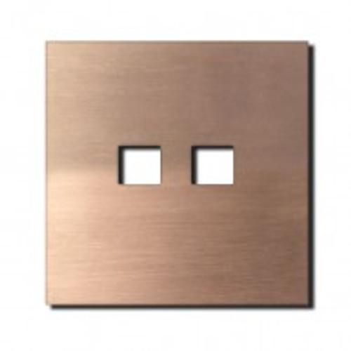Socket - 1 gang - RJ45 outlet - soft copper