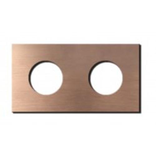 Socket - 2 gang - power outlet - soft copper