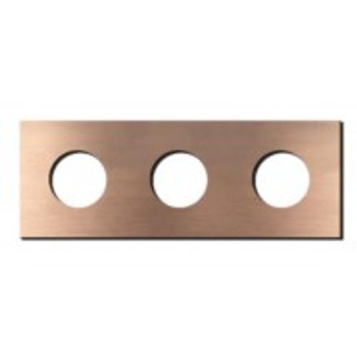 Socket - 3 gang - power outlet - soft copper