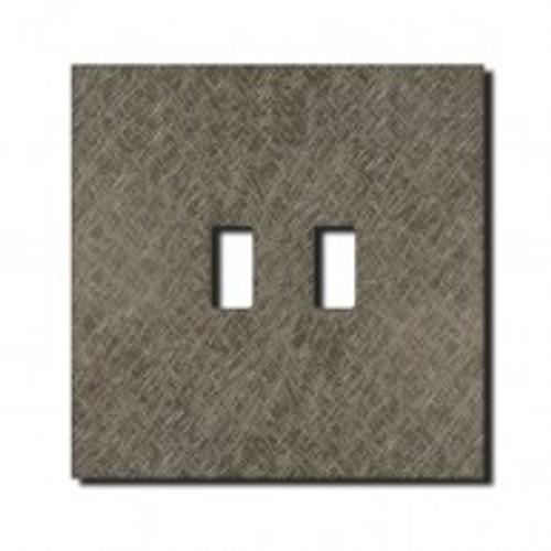 Socket - 1 gang - USB outlet - fer forgé grey