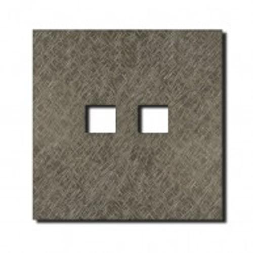 Socket - 1 gang - RJ45 outlet - fer forgé grey