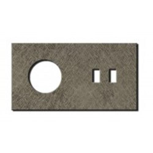 Socket - 2 gang - power + USB outlet - fer forgé grey