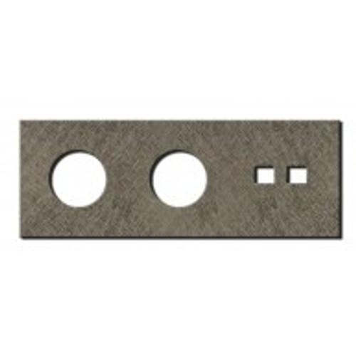 Socket - 3 gang - power + RJ45 outlet - fer forgé grey