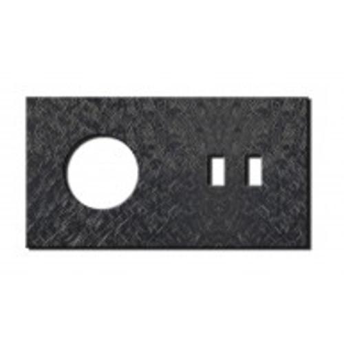 Socket - 2 gang - power + USB outlet - fer forgé gunmetal
