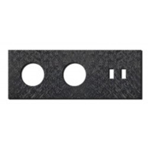 Socket - 3 gang - power + USB outlet - fer forgé gunmetal